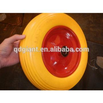PU foam flat free wheelbarrow tyre 3.50-8