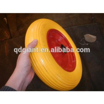 PU foam flat free wheel barrow tyre 3.50-8
