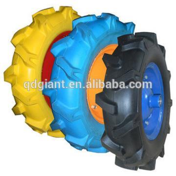 Heavy Duty Environmental Protection Wheelbarrow PU wheel For Sale 4.00-8