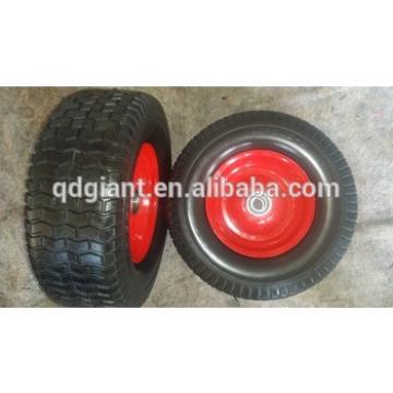 Pu foam wheel 16*6.50-8 with rim for handcarts