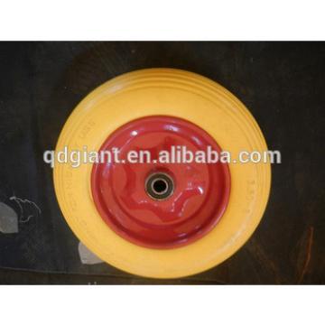 cheap metal rim pu filled rubber wheels 3.50-8