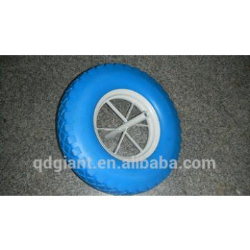 Blue color french model flat free wheel 4.80/4.00-8