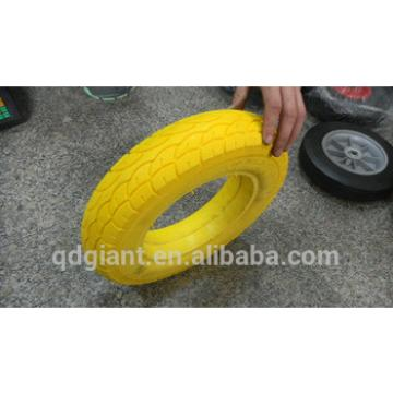 yellow color pu solid foam wheel 3.00-8/3.25-8/3.50-8/4.00-8