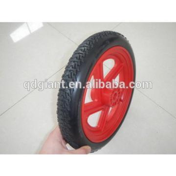 PU foam wagon wheels with red plastic rim