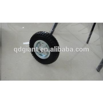 8 inch flat free pu wheel 2.50-4 for wheelbarrow