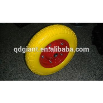 Turkey type polyurethane wheels 3.50-7 with comb pattern