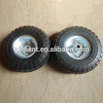 10inch Flat free pu foam rubber wheels 4.10/3.50-8