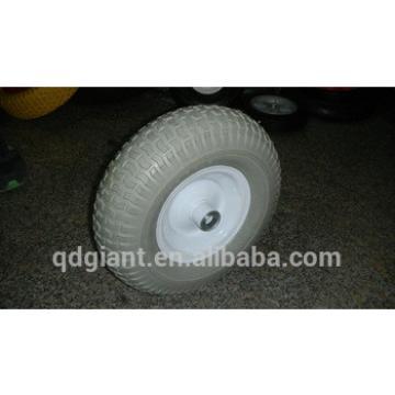 "Grey color pu foam turf saver wheel 13""x500-6"