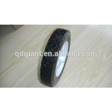 flat free wheel 8 inch with plastic rim 8x1.75