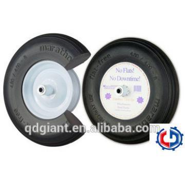 Flat free tire 16 Inch 4.00-8 solid PU foam rubber wheel