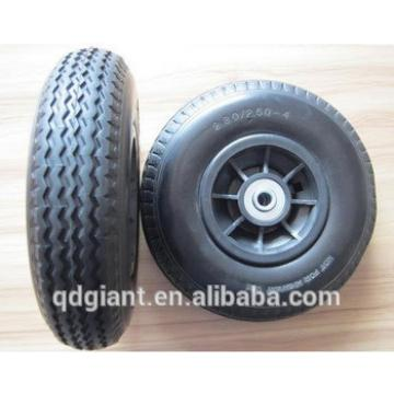 best sell and low price PU wheel 2.50-4 with plastic rim