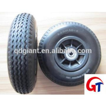 Flat Free Rubber Wheels 8 inch 2.50-4 Pu foam tire