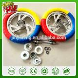 12 inch three color EVA foam prevent puncture solid wheel plastic rim wheel for Baby kid child rcarrier bike bicycle balance car