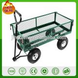 1000 lbs heavy duty Steel garden Yard Cart Utility Wagon Garden trailer Lawn Tractor garden trolley 4 Wheels barrow