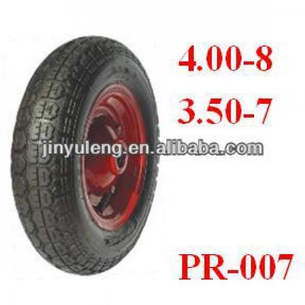 "13""X3.50-7 pneumatic rubber wheelbarrow Tyre #1 image"