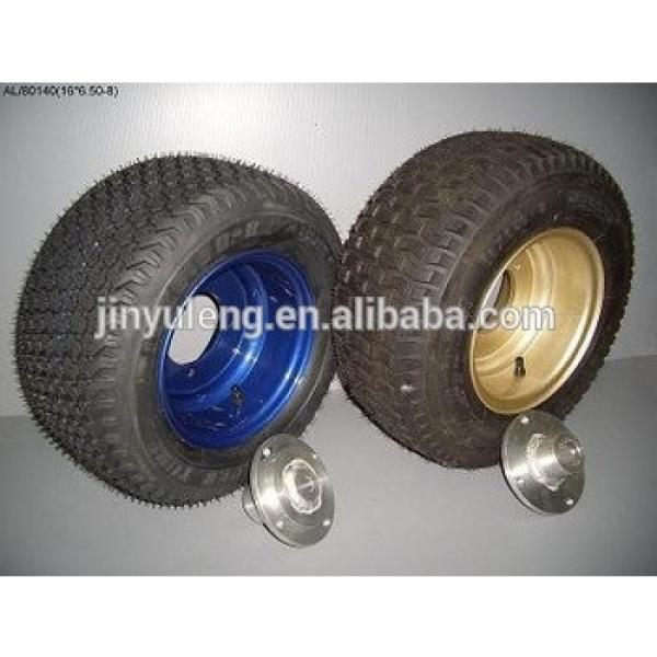 16 inch pneumatic tyre (6.50-8) for hand trolley wheels, Hand Truck ,lawn mover #1 image