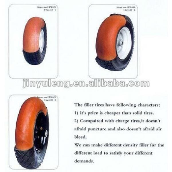 rubber tire with PU foam wheel #1 image