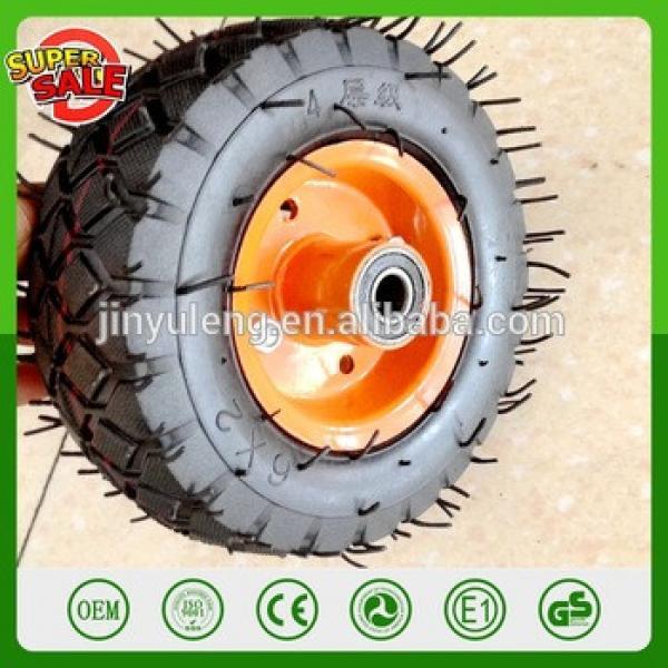 6 inch rubber wheel 163mm 50mm pneumatic wheel 6'' air wheel with metal rim Castor wheels hand trolley tool cart wheel #1 image