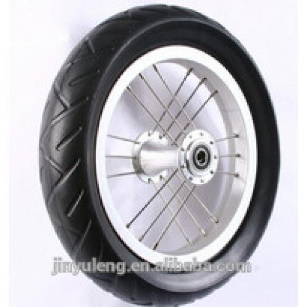 10 inch eva pu foam pneumatci wheel for baby bile #1 image