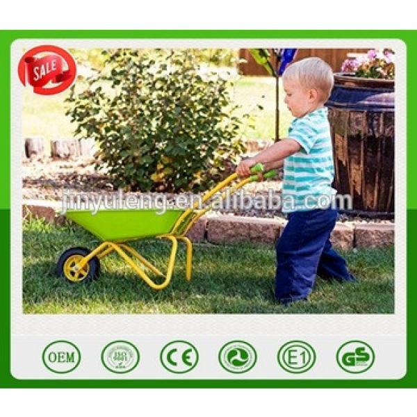 Garden Kids Green Metal Wheelbarrow toys CHILDRENS P METAL WHEELBARROW tool for kins #1 image