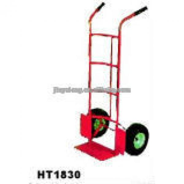 two pneumatic rubber wheel hand pull trolley HT1830 #1 image