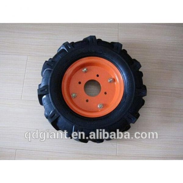 (4.00-8) Pneumatic Agricultural Rubber Wheel with Steel Rim for Wheelbarrow #1 image