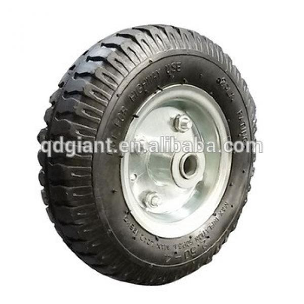 small rubber wheels with metal rim 8inch 2.50-4 #1 image