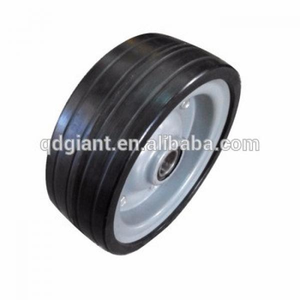 8'' metal rim solid rubber wheel for hand trolley and wagon #1 image
