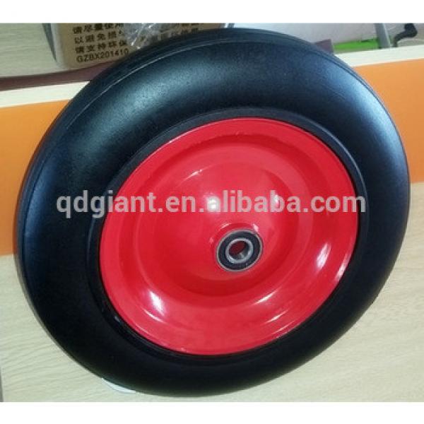 14inch wheelbarrow wheels cheap solid tyre with steel rim #1 image